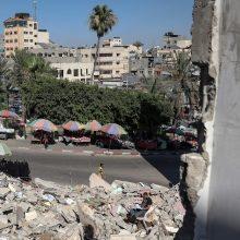 Palestiniečiai: Izraelis atlaisvino kai kuriuos suvaržymus Gazos Ruože