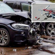 Pirmadienį šalies keliuose pasipylė avarijos: mirė garbaus amžiaus dviratininkas