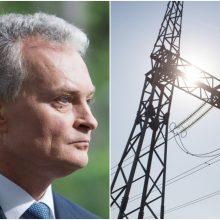 G. Nausėda ragina spartinti elektros tinklų sinchronizavimo darbus