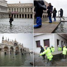 Venecija įtampoje: ruošiamasi dar vienai potvynio bangai