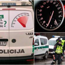 Pareigūnai klausia: ar pamačius policijos automobilį pasikeičia jūsų vairavimas?