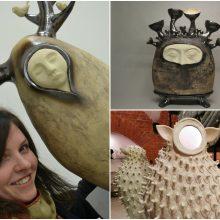 Menininkė, rašanti gyvenimo dienoraštį keramikos kūriniais: noriu, kad jie būtų gyvi