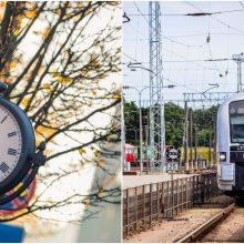 Atkreipkite dėmesį: dėl įvedamo žiemos laiko keičiasi dalies traukinių tvarkaraščiai