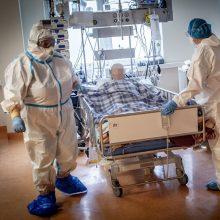 Ligoninėse šiuo metu gydoma daugiau nei 1,2 tūkst. COVID-19 pacientų, iš jų 128 – reanimacijoje