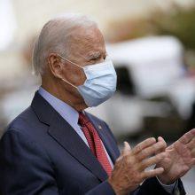 Demokratų kandidatas J. Bidenas atidavė savo balsą JAV prezidento rinkimuose
