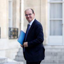 Naujasis Prancūzijos premjeras žada, kad naujo karantino valstybiniu lygmeniu nebus