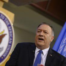 M. Pompeo: JAV pasiruošusios kalbėtis su Iranu