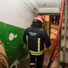 Sostinės ugniagesiai buvo sukelti ant kojų: atvira liepsna degė butas