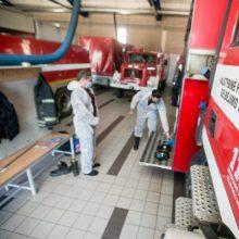 Ugniagesiai sukelti ant kojų: granulių gamybos įmonėje Raseinių rajone kilo gaisras