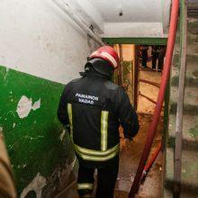 Vilniaus daugiabutyje kilo gaisras: žuvo žmogus