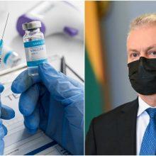 Prezidentas: vakcinos tiekimo grafikas leis iki vidurvasario paskiepyti 70 proc. gyventojų