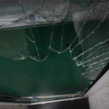 Incidentas Marijampolėje: moteris akmeniu išdaužė policijos komisariato langą