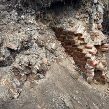 Kaune aptikus seno mūro fragmentų sustabdytos statybos