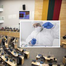 Koronavirusu užsikrėtė dar trys Seimo nariai