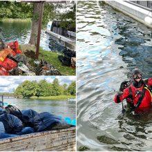 Į Galvės ežero valymo akciją susirinko virš pusšimčio narų: šiukšlėms išvežti prireikė sunkvežimio