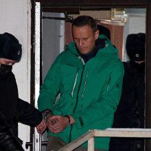 A. Navalno atstovė: jis uždarytas į tardymo izoliatorių, su juo beveik neįmanoma susisiekti