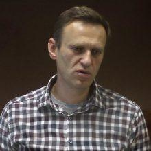 A. Navalno advokatas pranešė, kad jo ginamasis išvežtas iš tardymo izoliatoriaus