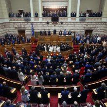 Darbą pradėjo naujasis Graikijos parlamentas
