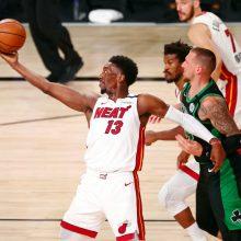 "Dar kartą atsitiesę ""Heat"" – per dvi pergales nuo NBA finalo"