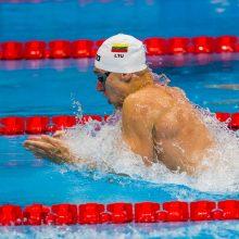 Nusišypsojo sėkmė: A. Šidlauskas pateko į 200 m plaukimo krūtine pusfinalį