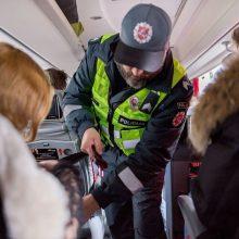 Autobusų keleivių saugumas – ir jų pačių reikalas