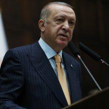 R. T. Erdoganas grasina nauja karine operacija Sirijoje