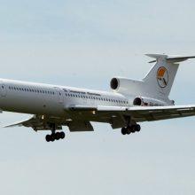 """Legendinis lėktuvas """"Tupolew Tu-154"""" atliko paskutinį skrydį"""