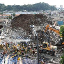 Pietų Korėjoje sugriuvus pastatui žuvo devyni žmonės, dar aštuoni nukentėjo