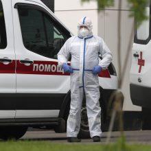 Rusijoje nustatyta 8 950 naujų COVID-19 atvejų, 181 žmogus mirė