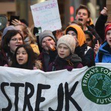 """Hamburge vyks """"Fridays for Future"""" protestas: dalyvaus ir G. Thunberg"""
