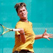 Tenisininkui V. Gaubui – Europos jaunimo čempionato bronza