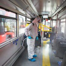 Viešojo transporto keleivių srautai Vilniuje sumažėję, prioritetas – saugios kelionės