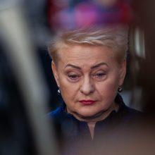 Vyriausybė paskyrė rentą kadenciją baigiančiai D. Grybauskaitei
