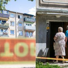 Pažadai griūvančio namo gyventojams subliūško: neaišku, kada galės sugrįžti