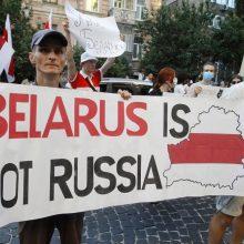 Minskas: Baltarusija patrauks atsakomybėn tuos, kas iš užsienio ragina protestuoti
