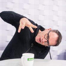 """""""Kauno dienos"""" studijoje apsilankęs M. Mikutavičius išleis naują albumą"""