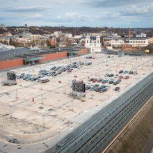 """Kauno """"Akropolyje"""" pradedami ketvirto aukšto automobilių stovėjimo aikštelės atnaujinimo darbai"""