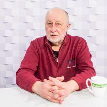 """""""Kauno dienos"""" studijoje – R. Požerskis: menas tai yra noras nugalėti mirtį"""