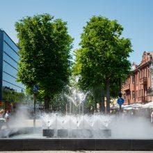 Kviečia atsigaivinti Laisvės alėjos fontano skleidžiama dulksna