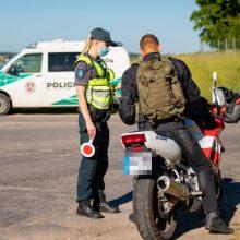 Per Kauno policijos reidus įkliuvę motociklininkai užsidirbo baudžiamąsias bylas