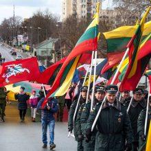 Kovo 11-sios renginiai subūrė šiauliečius: šoko, dainavo ir šildėsi karių arbata