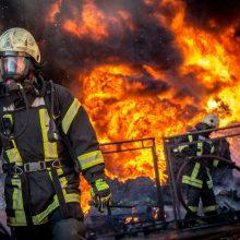 Siaubingas gaisras Šalčininkų rajone: dega 14 pastatų