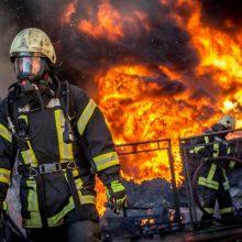 Gaisras Vilniuje nusinešė vyro gyvybę
