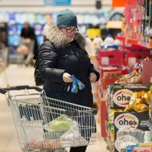 Analizė parodė: pigiausių maisto produktų krepšelis kovą brango