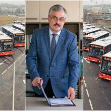 """Po skandalo iš pareigų pasitraukęs M. Grigelis vėl vadovauja """"Kauno autobusams"""""""