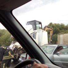 Tragiška avarija Marvelėje: žuvo sunkvežimio vairuotojas
