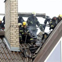 Žaibas sukėlė gaisrą ne tik Kaune, bet ir kitur