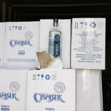 Kauno policijos laimikis – nelegalus alkoholis už daugiau nei 120 tūkst. eurų