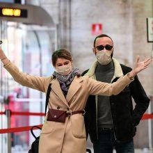 Italijoje dėl koronaviruso paskelbus karantiną, kilo transporto chaosas