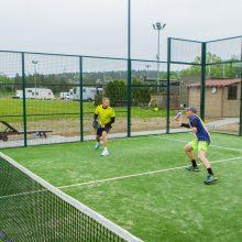 Pramoga: žaisti padelio tenisą nesunku, tad tai puikiai tinka šeimos laisvalaikiui.
